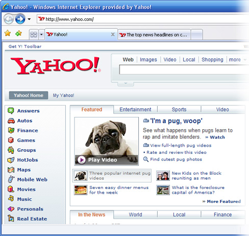 yahoo features animation from software startup business from Dan Engel